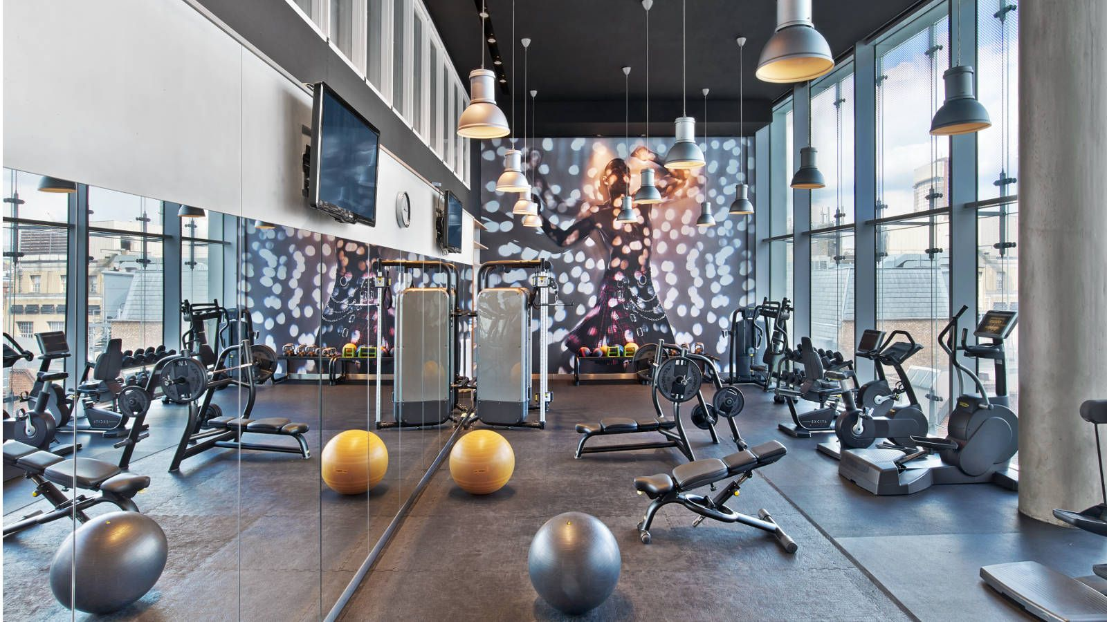 Gym at W London Hotel in Central London